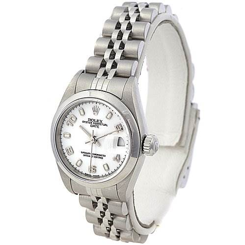Rolex Oyster Perpetual Date Ladies Ss Watch 79160 Charming SwissWatchExpo
