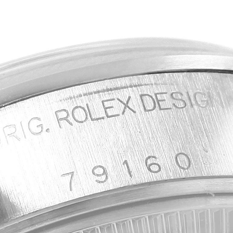 Rolex Date Silver Dial Oyster Bracelet Steel Ladies Watch 79160 Box Papers SwissWatchExpo