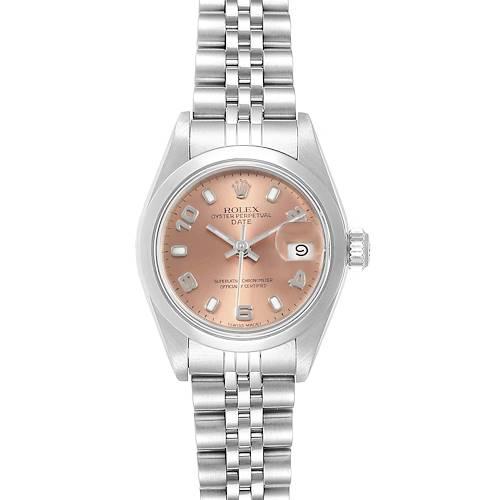 Photo of Rolex Date 26 Salmon Dial Jubilee Bracelet Steel Ladies Watch 79160