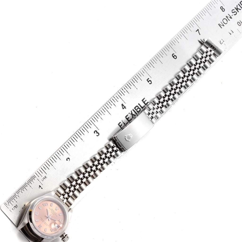 Rolex Date 26 Salmon Dial Jubilee Bracelet Steel Ladies Watch 79160 SwissWatchExpo