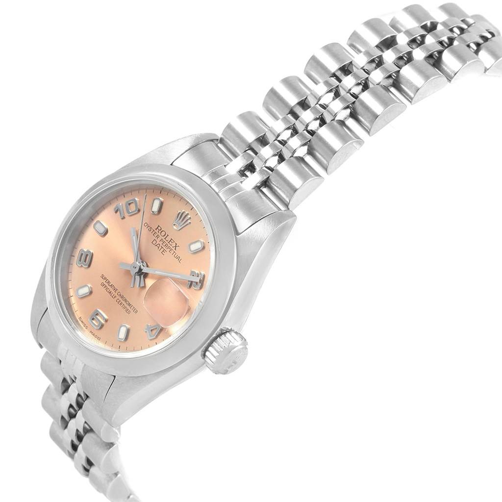 20059 Rolex Date 26 Salmon Dial Jubilee Bracelet Steel Ladies Watch 79160 SwissWatchExpo