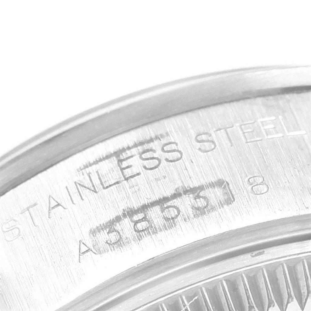 Rolex Date Silver Dial Oyster Bracelet Steel Ladies Watch 69160 SwissWatchExpo