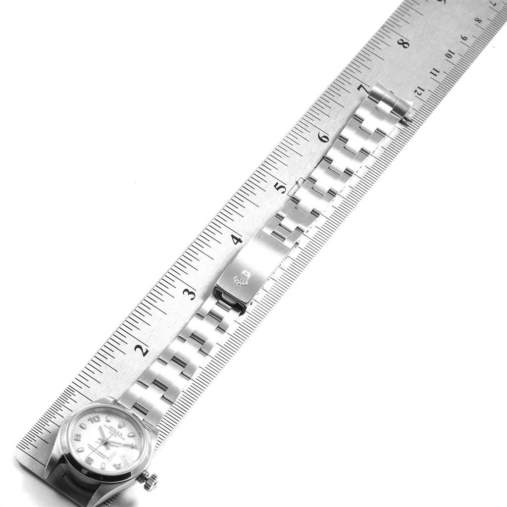 21835 Rolex Date 26 White Dial Oyster Bracelet Steel Ladies Watch 79160 SwissWatchExpo