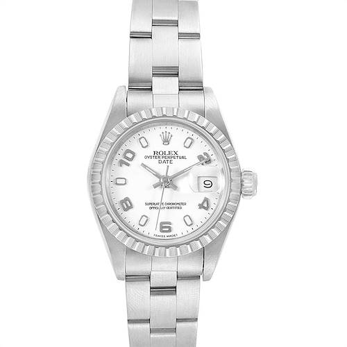 Photo of Rolex Date White Dial Oyster Bracelet Steel Ladies Watch 69240