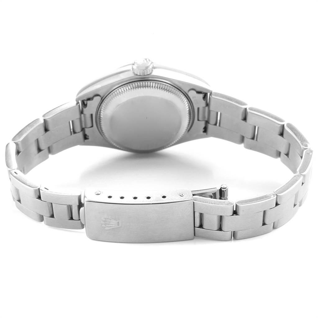 22525 Rolex Date 26 Salmon Dial Domed Bezel Steel Ladies Watch 79160 SwissWatchExpo