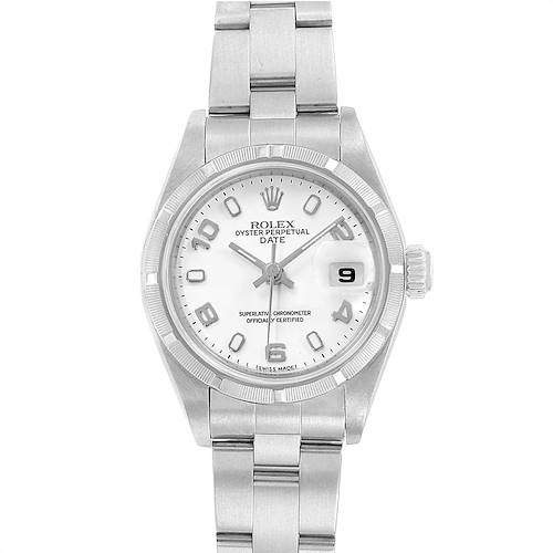 Photo of Rolex Date White Dial Oyster Bracelet Steel Ladies Watch 79190