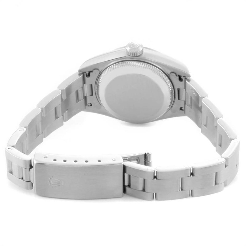 Rolex Date 26 Salmon Dial Domed Bezel Steel Ladies Watch 79160 SwissWatchExpo