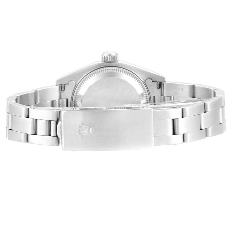 Rolex Date Blue Dial Oyster Bracelet Steel Ladies Watch 69160 SwissWatchExpo
