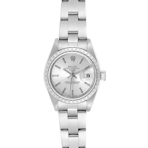 Photo of Rolex Date Silver Dial Oyster Bracelet Ladies Watch 79240 Box Papers