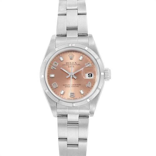 Photo of Rolex Date Salmon Dial Oyster Bracelet Steel Ladies Watch 79190