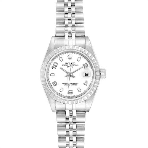 Photo of Rolex Date White Dial Jubilee Bracelet Ladies Watch 79240 Box