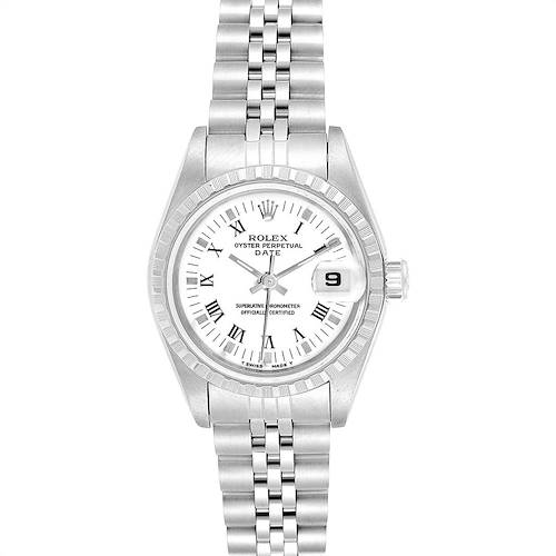 Photo of Rolex Date White Dial Steel Ladies Watch 69240 Box Papers