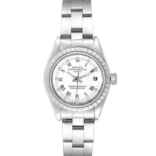 Photo of Rolex Date White Dial Oyster Bracelet Steel Ladies Watch 69240 Box Papers