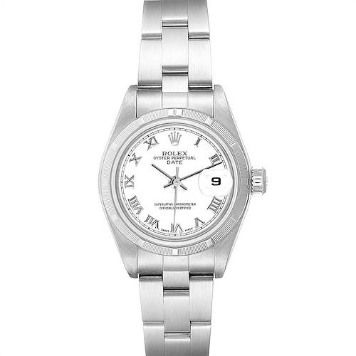 Photo of Rolex Date White Dial Oyster Bracelet Steel Ladies Watch 79190 Box Papers