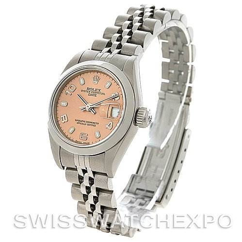2843 Rolex Oyster Perpetual Date Ladies Ss Watch 79160 SwissWatchExpo