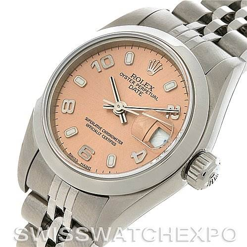 Rolex Oyster Perpetual Date Ladies Ss Watch 79160 SwissWatchExpo
