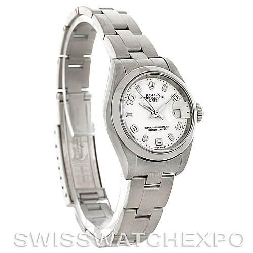 4045 Rolex Oyster Perpetual Date Ladies Steel Watch 79160 SwissWatchExpo