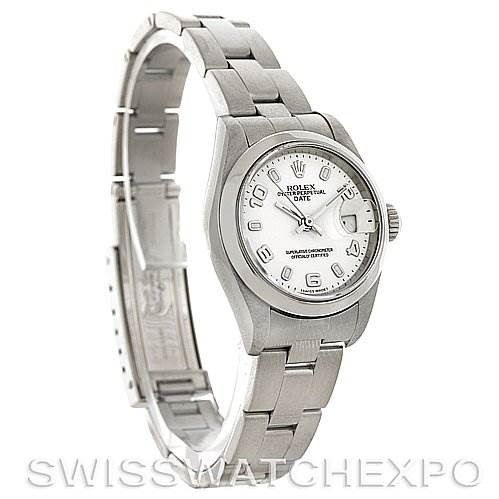 Rolex Oyster Perpetual Date Ladies Steel Watch 79160 SwissWatchExpo
