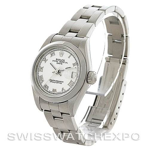 4115 Rolex Oyster Perpetual Date Ladies Steel Watch 79160 SwissWatchExpo