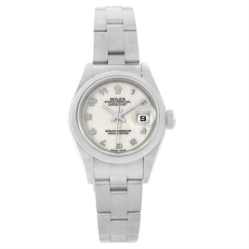 Rolex Oyster Perpetual Date Jubilee Dial Ladies Steel Watch 79160 SwissWatchExpo