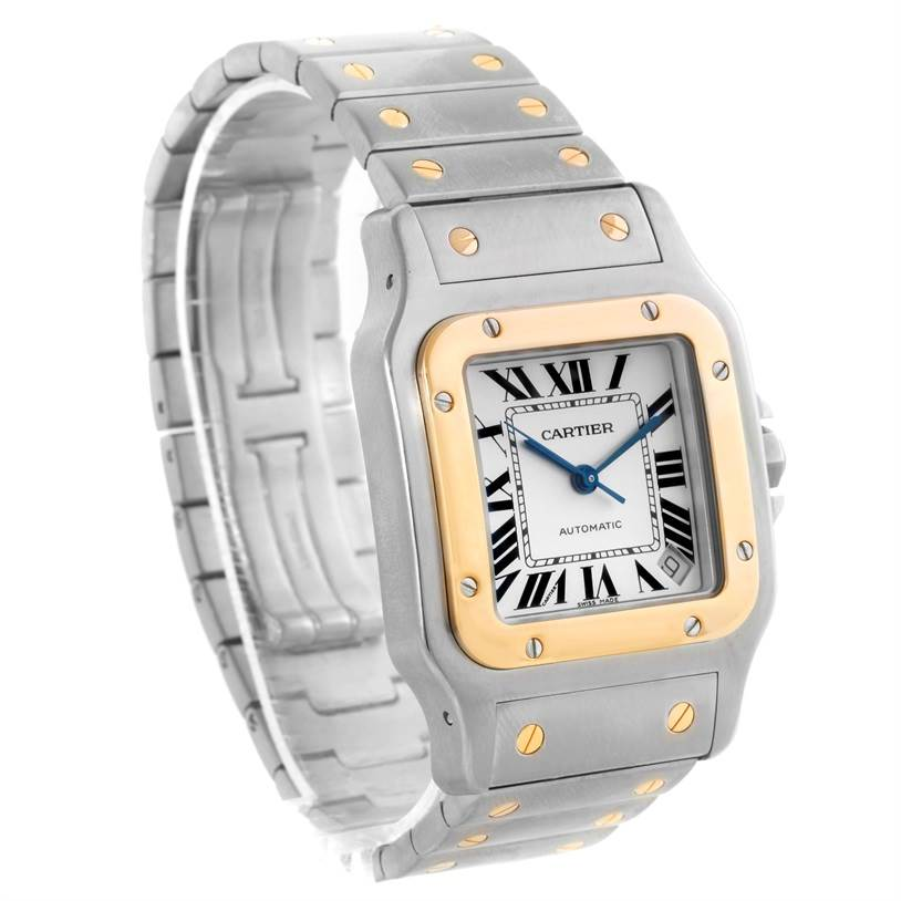 9753 Cartier Santos Galbee XL Steel 18K Yellow Gold Mens Watch W20099C4 SwissWatchExpo