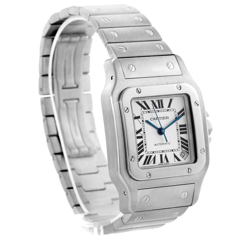10441 Cartier Santos Galbee XL Steel Mens Automatic Watch W20098D6 SwissWatchExpo