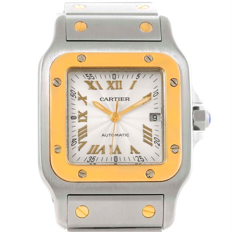 8739 Cartier Santos Galbee Large Steel 18K Yellow Gold Watch W20058C4 SwissWatchExpo