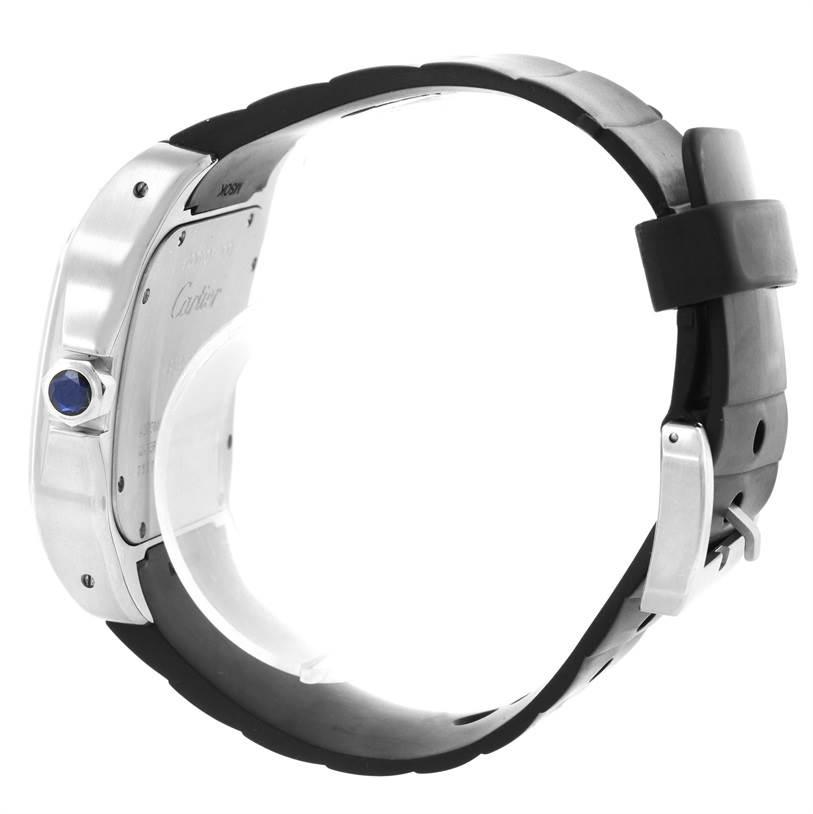 11301 Cartier Santos 100 Steel Rubber Strap Automatic Mens Watch W20073X8 SwissWatchExpo