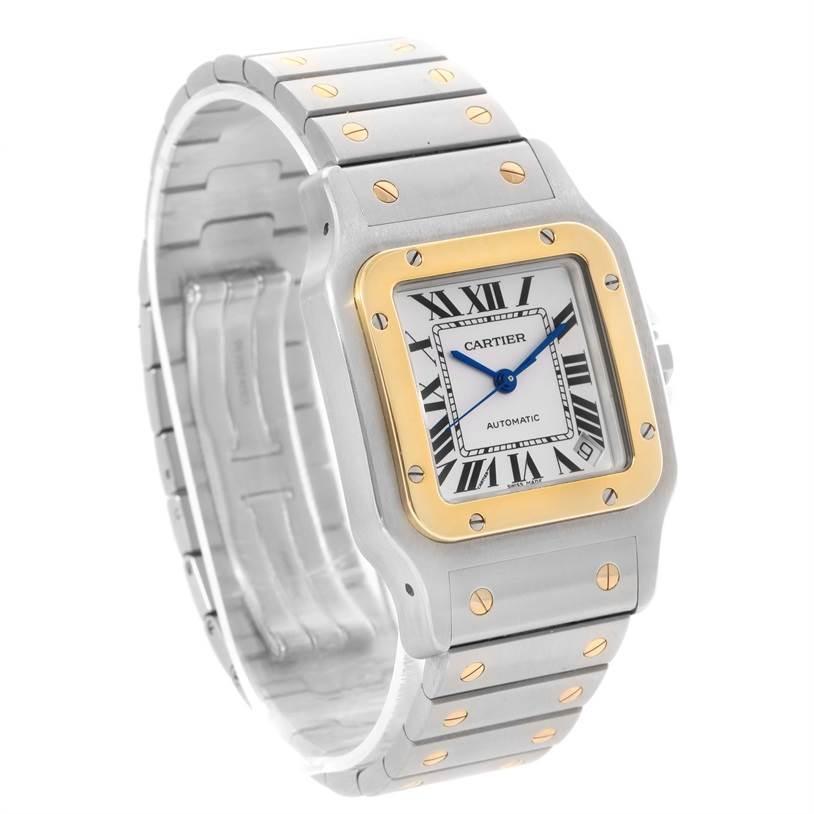 12069 Cartier Santos Galbee XL Steel 18K Yellow Gold Mens Watch W20099C4 SwissWatchExpo