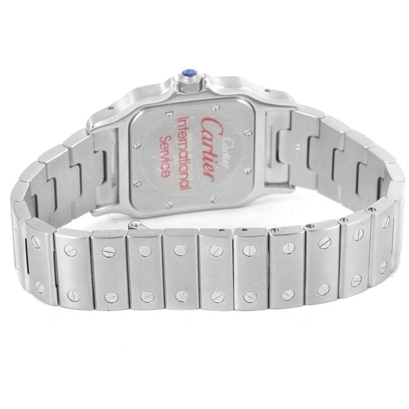 12610 Cartier Santos Galbee Quartz Stainless Steel Date Watch W20060D6 SwissWatchExpo