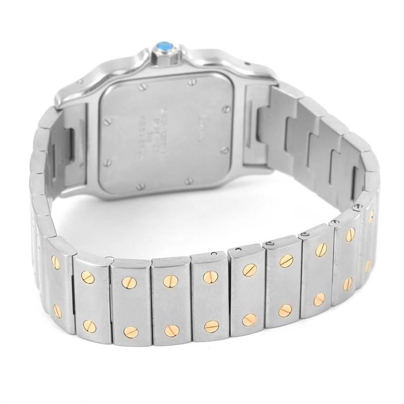 12480 Cartier Santos Large Steel 18K Yellow Gold Quartz Watch W20011C4 SwissWatchExpo