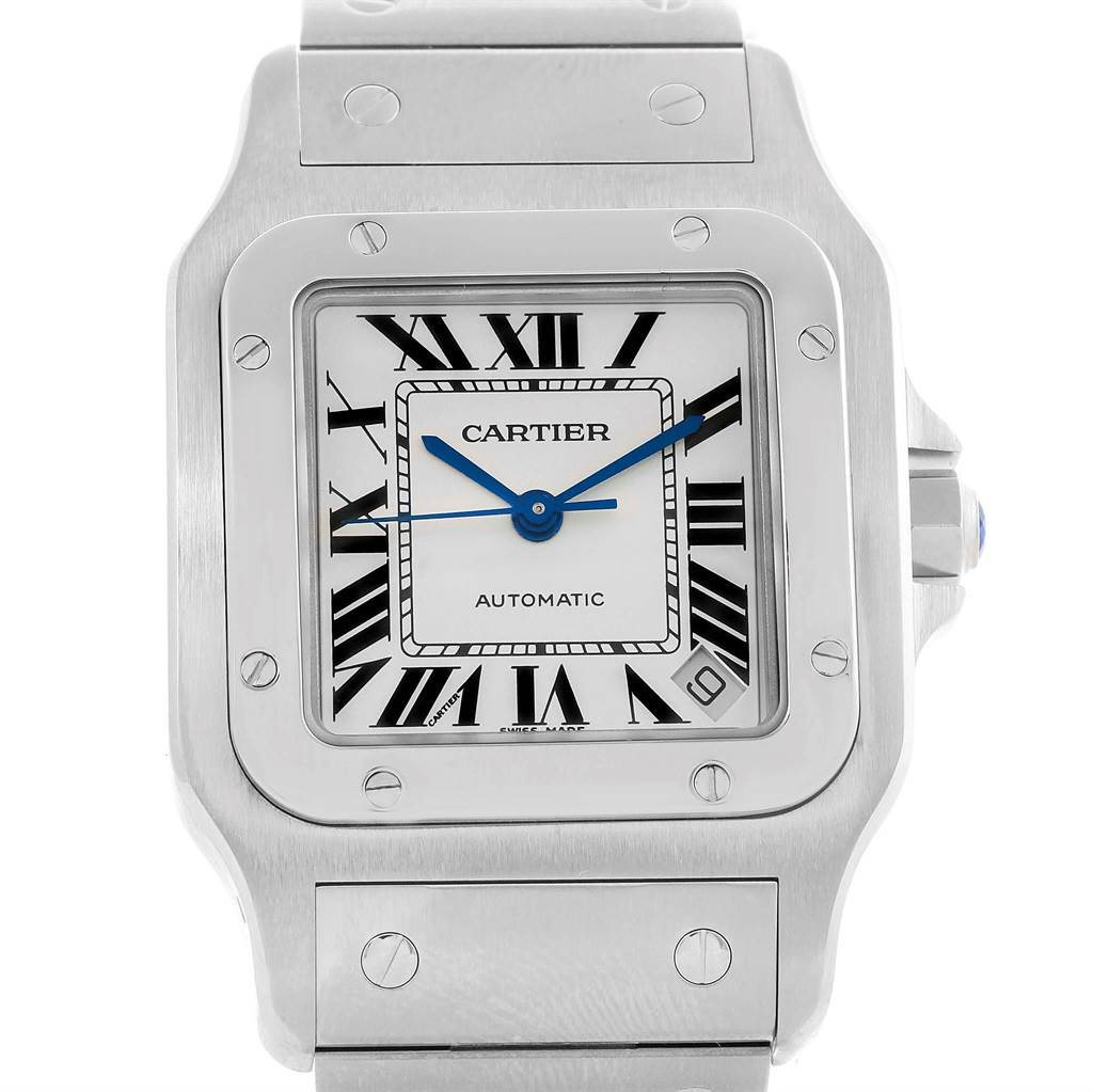 14190 Cartier Santos Galbee XL Steel Mens Watch W20098D6 Box Papers SwissWatchExpo