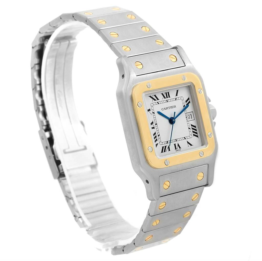 14175 Cartier Santos Galbee Steel 18K Yellow Gold Mens Watch W20058C4 SwissWatchExpo