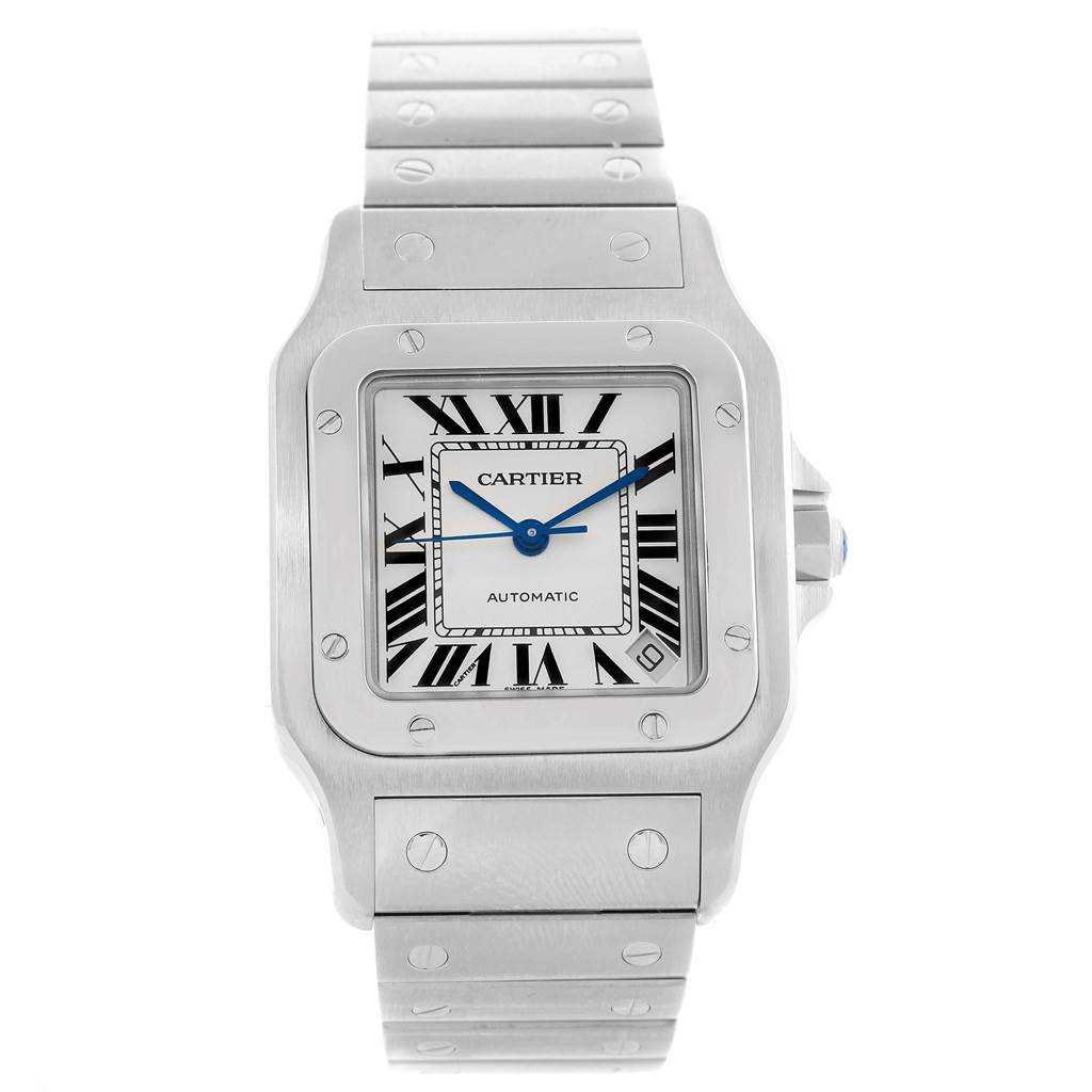 12449 Cartier Santos Galbee XL Steel Mens Watch W20098D6 Box Booklet SwissWatchExpo