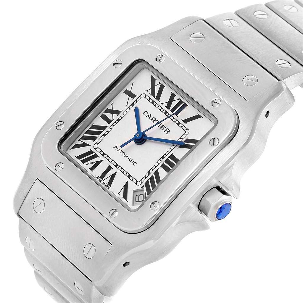 Cartier Santos Galbee XL Steel Mens Watch W20098D6 Box Booklet SwissWatchExpo