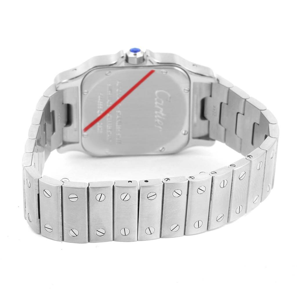 12164S Cartier Santos Galbee XL Steel Mens Automatic Watch W20098D6 SwissWatchExpo