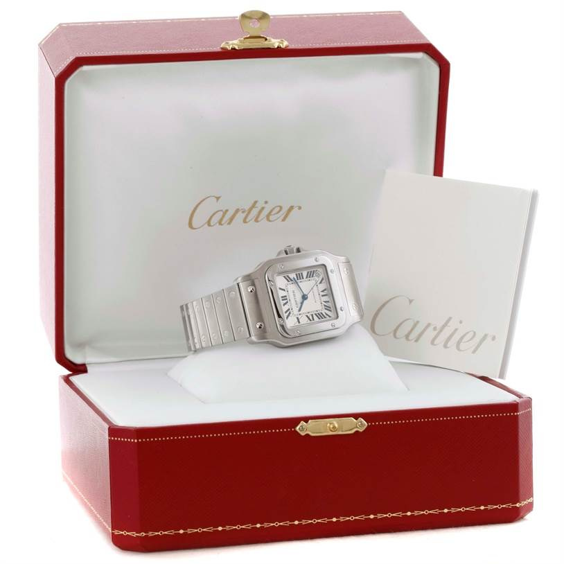 10441A Cartier Santos Galbee XL Steel Mens Automatic Watch W20098D6 SwissWatchExpo