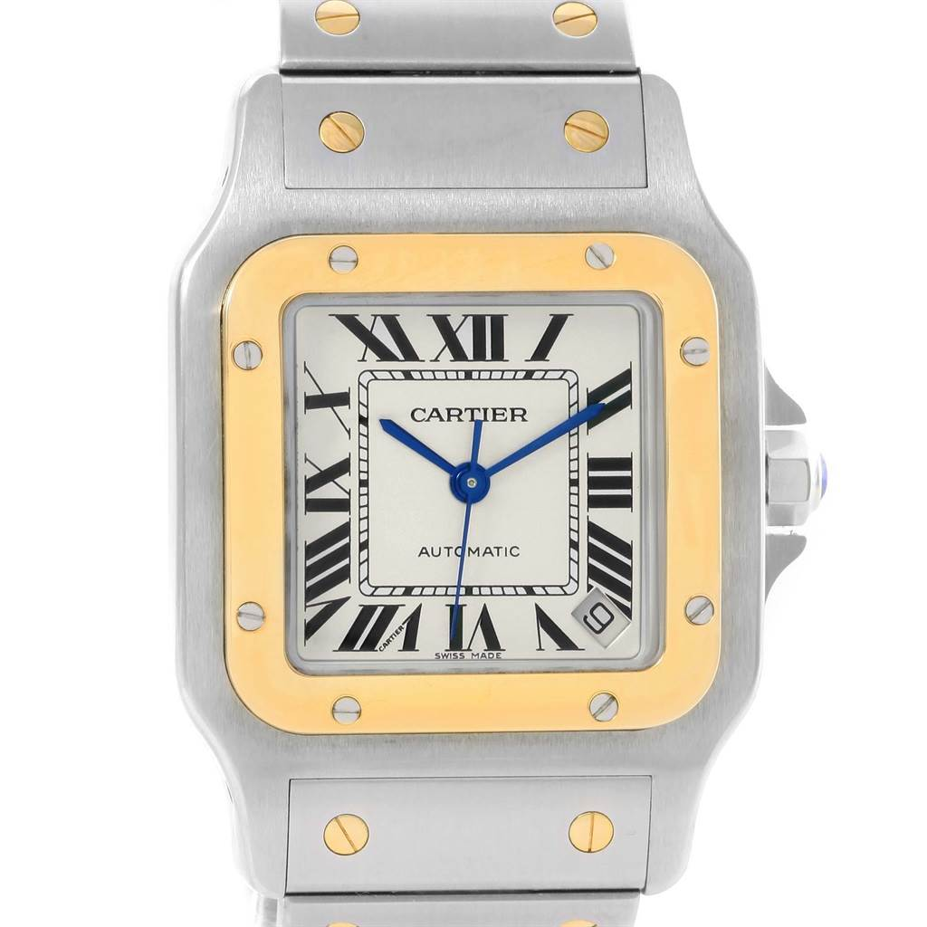 15165 Cartier Santos Galbee XL Steel 18K Yellow Gold Mens Watch W20099C4 SwissWatchExpo
