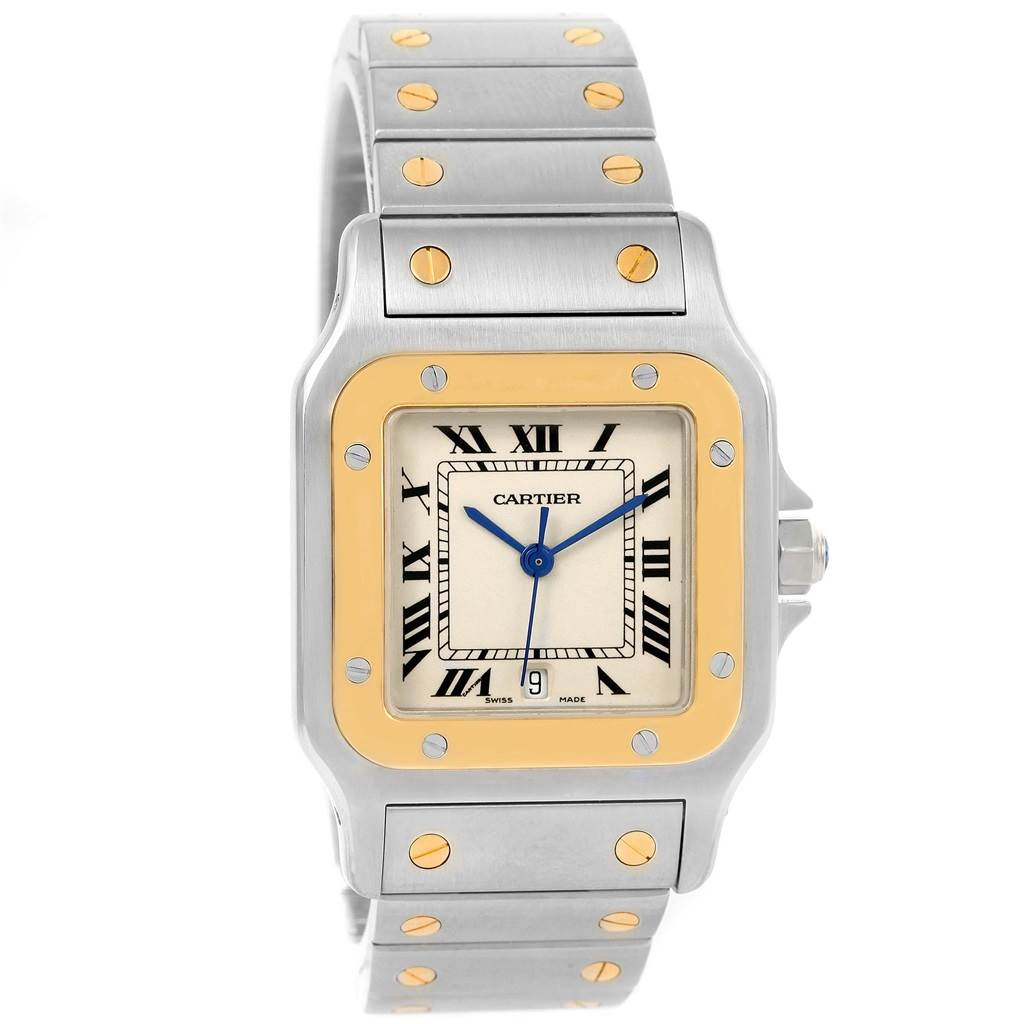 15362 Cartier Santos Galbee Large Steel 18K Yellow Gold Quartz Watch W20011C4 SwissWatchExpo
