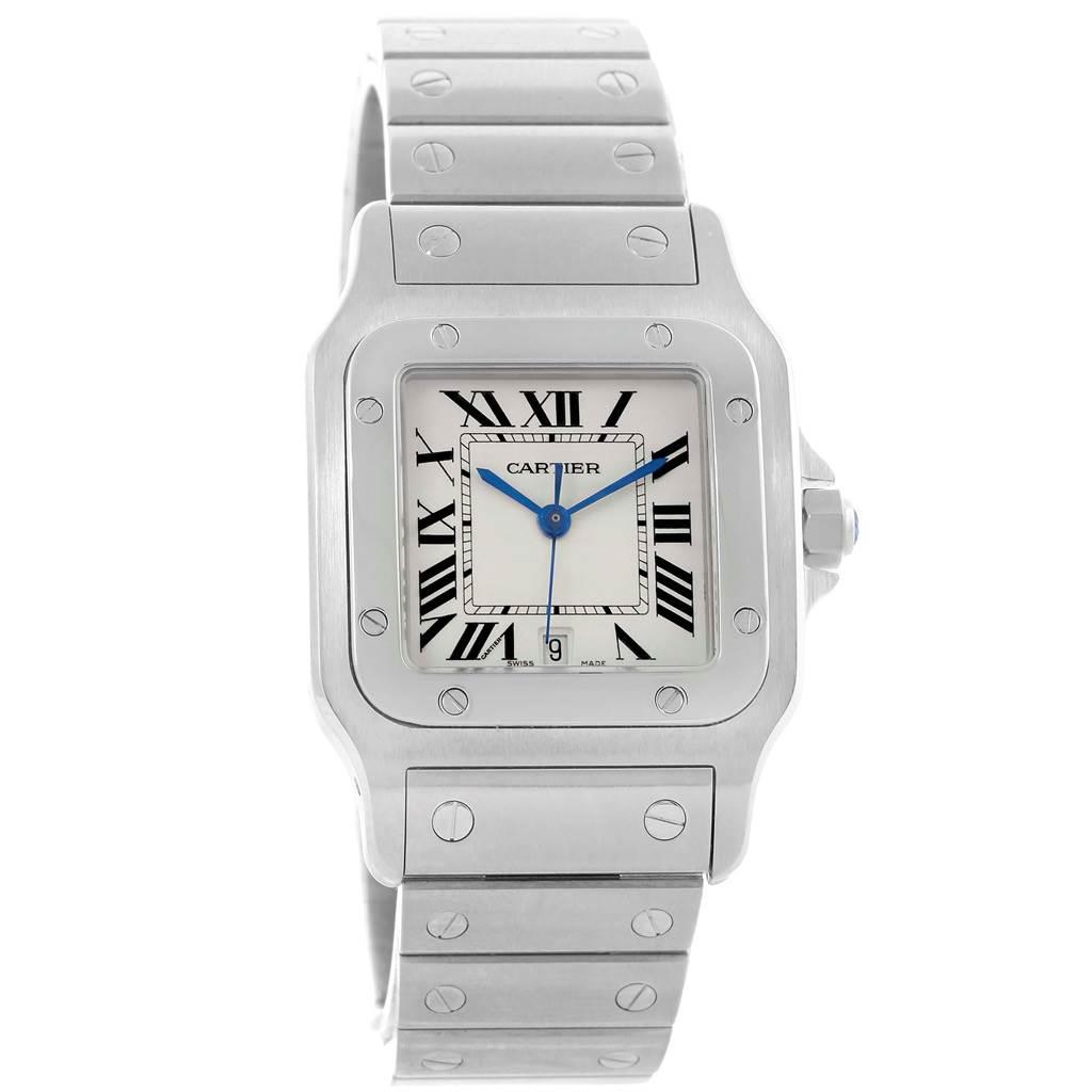 Cartier Santos Galbee Silver Dial Steel Unisex Watch W20060D6 SwissWatchExpo
