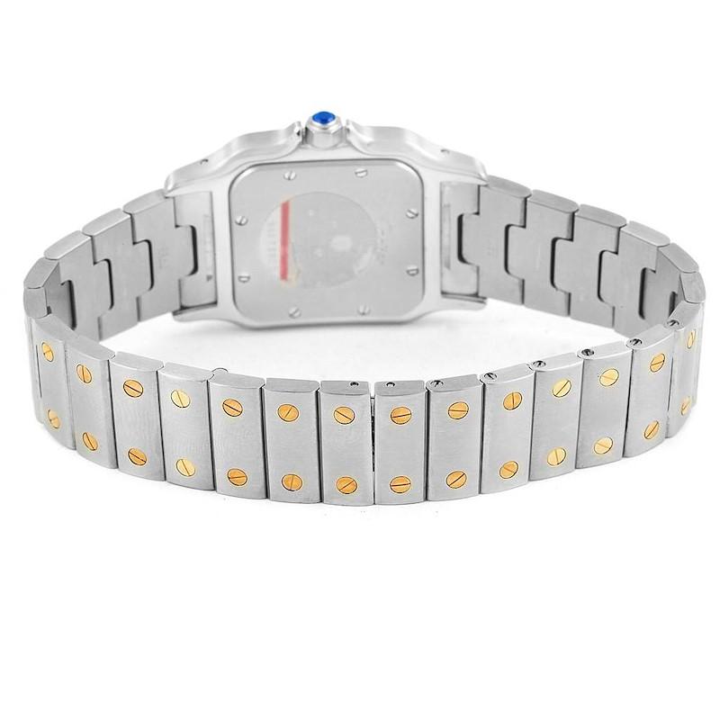 Cartier Santos Galbee Large Steel 18K Yellow Gold Quartz Watch 1566 SwissWatchExpo