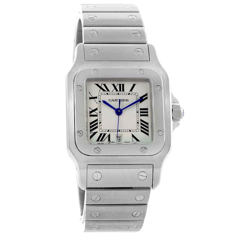 Cartier Santos Galbee Silver Dial Steel Quartz Unisex Watch W20060D6 SwissWatchExpo