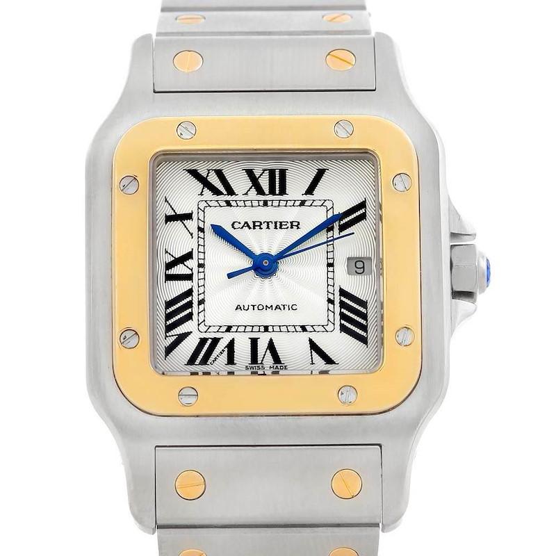 Cartier Santos Galbee Steel 18K Yellow Gold Mens Watch W20058C4 SwissWatchExpo
