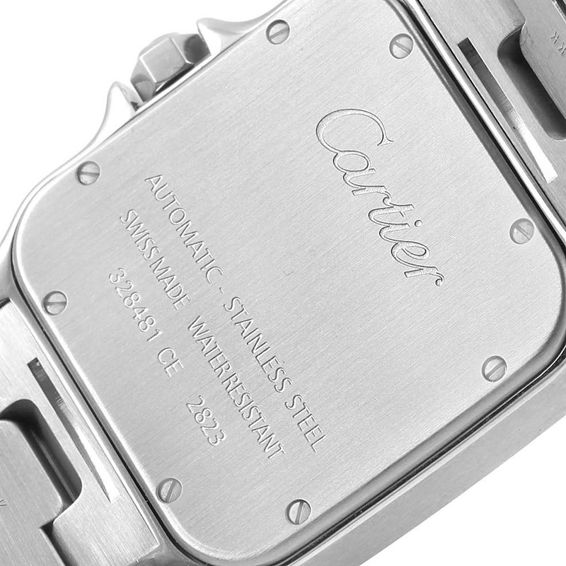 Cartier Santos Galbee XL Steel Mens Automatic Watch W20098D6 Box SwissWatchExpo