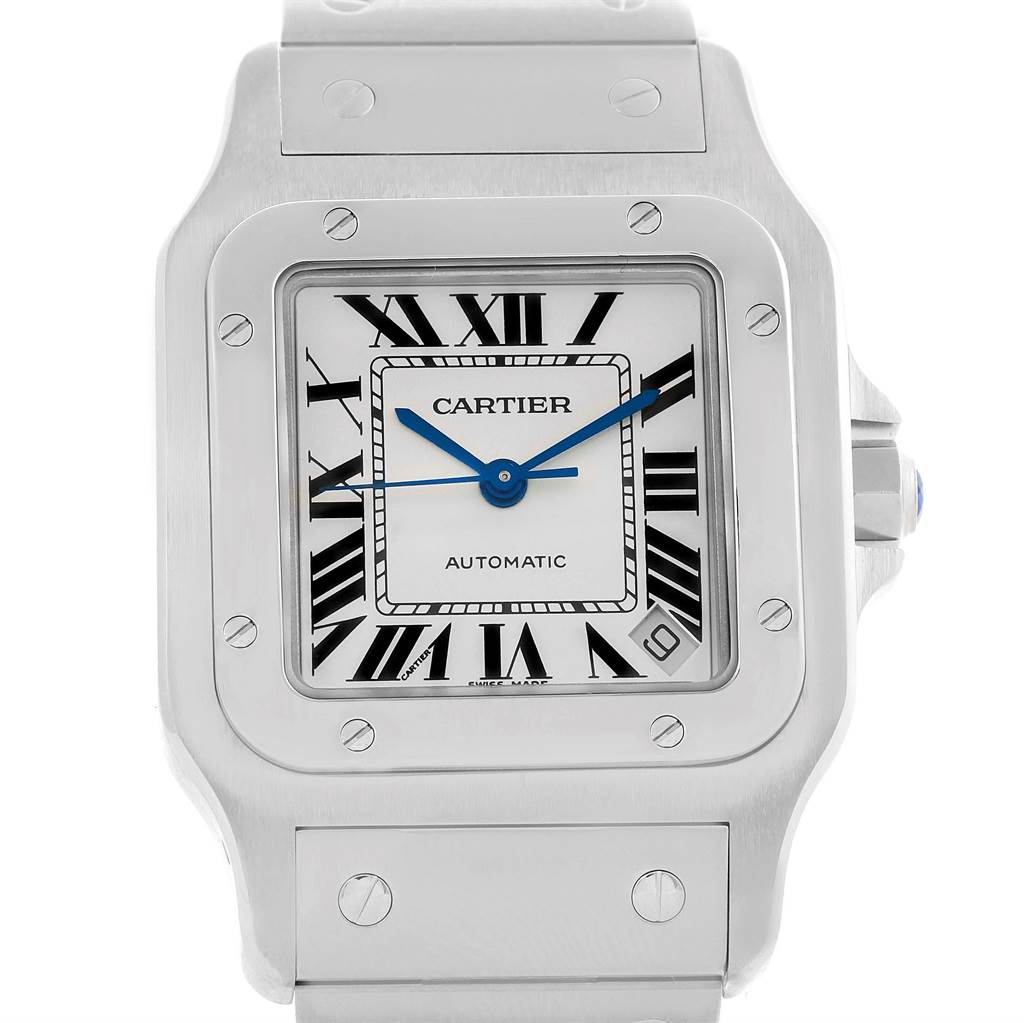 cartier flinque men watches dumont s dial watch gray galvanized santos