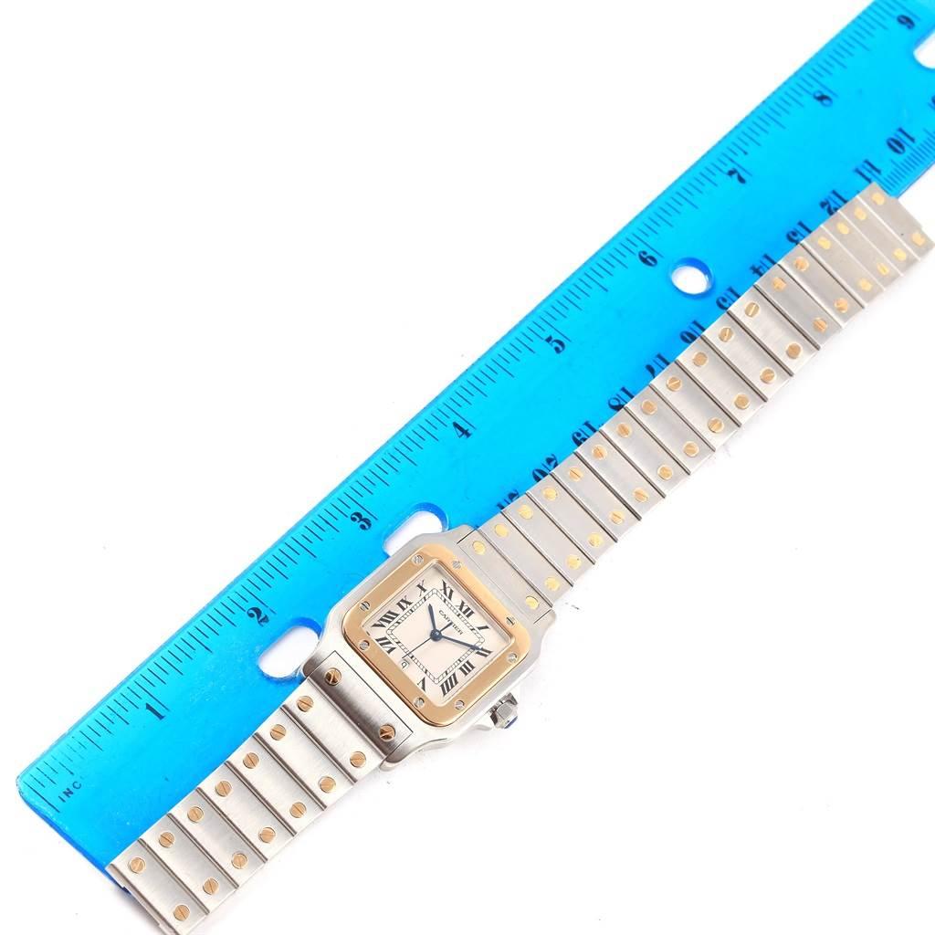 Cartier Santos Galbee Large Steel Yellow Gold Watch W20011C4 Box Papers SwissWatchExpo