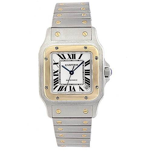 Cartier Santos Galbee Xl  Stainless steel and 18k Watch W20099c4 SwissWatchExpo