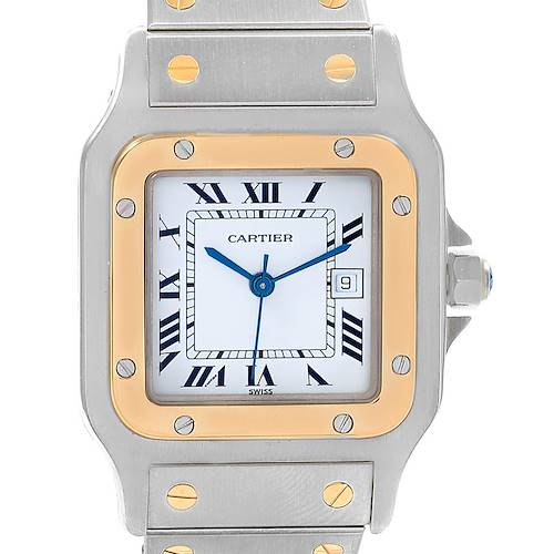 Photo of Cartier Santos Galbee Steel Yellow Gold Automatic Mens Watch 1172961