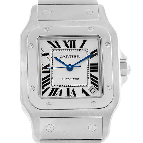 Photo of Cartier Santos Galbee XL Steel Mens Automatic Watch W20098D6 Box Papers