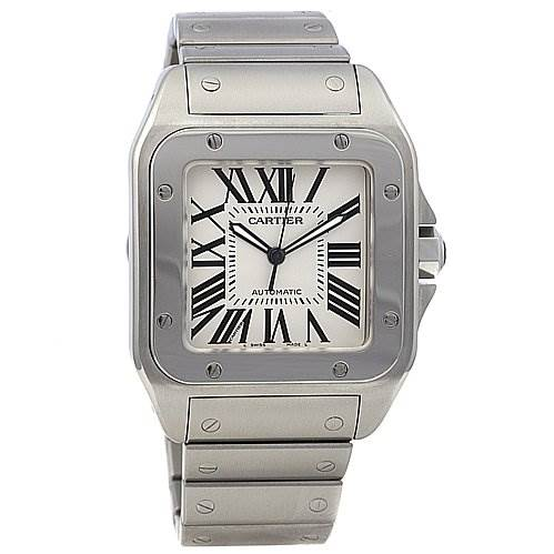 Cartier Santos 100 Ss Large Automatic Watch 2656 SwissWatchExpo